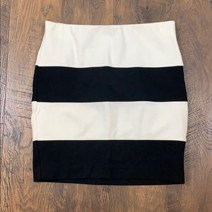 Ann Taylor Loft wide stripe mini skirt